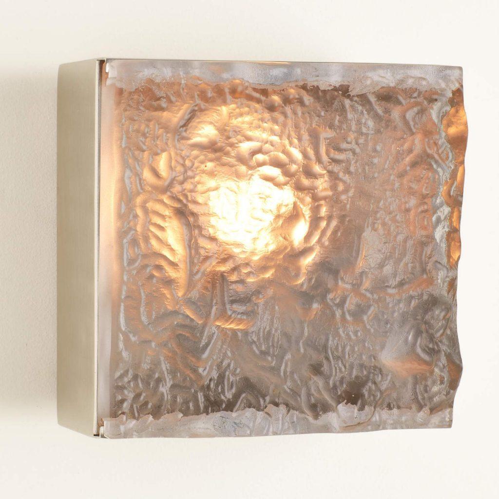 7.91077-HW Cube Sconce-Satin Nickel-HW