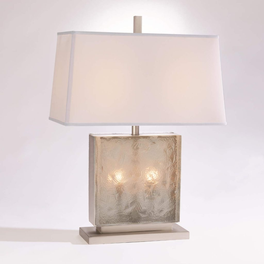 7.91079 Cube Slab Table Lamp-Antique Nickel