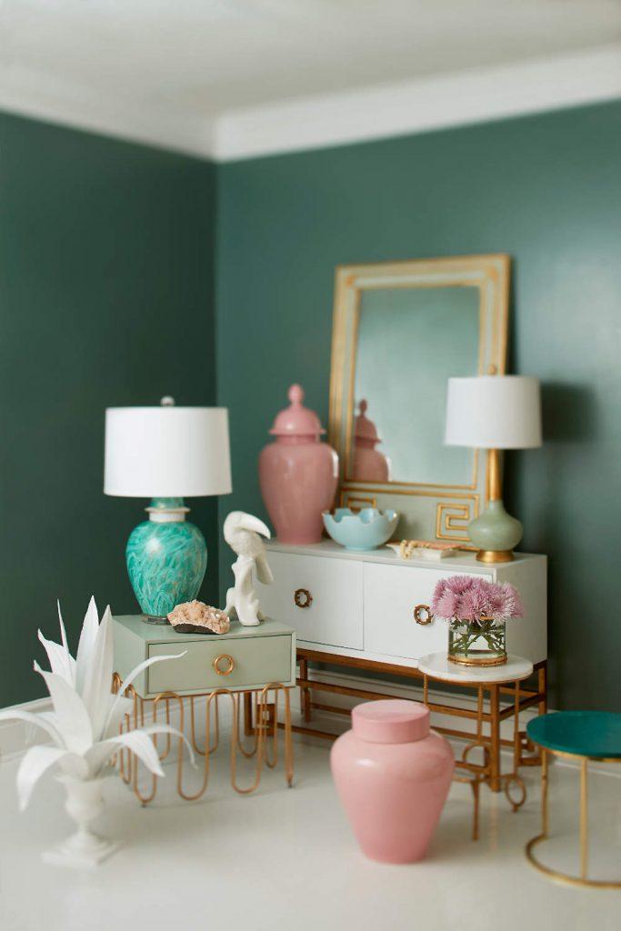 Green & Pink Vignette Soft Focus